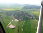 Landeanflug über Unterweiler
