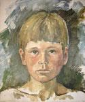 Portrait Stefan, Tempera auf LW, 1976