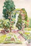 Heckenrosen im Frühling, Aquarell auf Karton, 54/37 cm, 2007