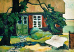 Künstlerhaus in Arenshoop, Öl auf Karton, 37/51 cm, 1987