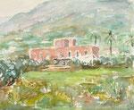 Weingut bei Forio, Ischia, Aquarell auf Karton, 18/24 cm, 2007
