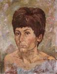 Portrait Edith, Tempera auf LW, 1976