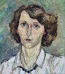 Portrait Gaby, Öl auf HFP, 39/34 cm, 1988