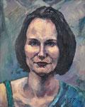 Portraitstudie Mandy, Öl auf Leinwand, 30/25 cm, 2004