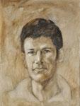 Portraitstudie Stefan, Ölgrafik auf Leinwand, 40/30 cm, 2010