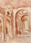 Kichenruine auf dem Castello Aragonese von Ischia, Aquarell auf Karton, 40/29 cm, 2007