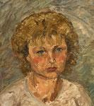 Portrait eines jungen Mädchens, Öl auf HFP, 38/33 cm, 1989