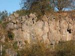 Die Felswände bieten felsbrütenden Vögeln gute Brutplätze.