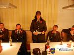 Jugendbetreuerin Hager berichtet über die Feuerwehrjugend.