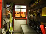 Der Mannschaftsraum mit den drei Atemschutzgeräten