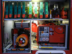 Ansicht Geräteraum mit Stromaggregat
