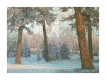 Winterlandschaft, 100x140 cm, Acryl,Papier,Leinwand, 2015