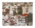 Stadt II, 80x100 cm, Acryl,Papier,Leinwand, 2015
