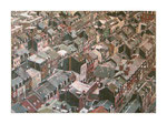 Stadt I, 100x140 cm, Acryl,Papier,Leinwand, 2015