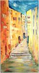 Stufen überwinden 2014 Acryl auf Leinwand 40 x 80 cm, 450,00 €