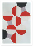 Ellen Roß: Quadratur des Kreises n°3, 2015, Vinyl auf Karton, FABIANO 400gr/qm, 50 x 70 cm