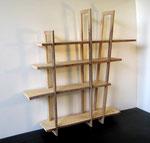 Atelier Marquis - ébénisterie d'art - biliothèque étagère démontable bois massif
