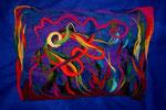 Life under the sea (noch unbestickt) (100 x 70 unmontiert, montiert 120 x 90)