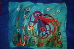 die Krake (70 x 50, montiert 90 x 70 cm)