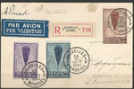 Belgium registered mail to Poland (Varsovie), with 344/346 dated 26.11.1932 via Paris orig. signed by Auguste Piccard