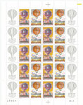 France minisheet 2387/2388, honoring the first balloonflight 200 years ago of the brothers Montgolfier
