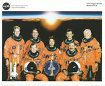 NASA Lithographie from Space Shuttle STS-95 complete crew signed autopen