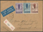 Belgium registered mail to Germany (Chemnitz), with 344/346 dated 16.01.1933