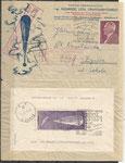 Poland mail to Warszawa with block 6, arrived in Warszawa 22.19.1938