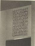 Spruch über dem Aufgang zum Turm