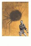 L'homme le plus rapide du monde rattrapée par une araignée.