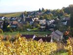 Blick von unserer Seite über das Dorf