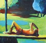 Mensch – 140 x 150 cm – Öl auf Leinwand