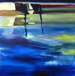 Fluss – 120 x 120 cm – Öl auf Leinwand