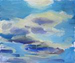 Wolken – 54 x 65 cm – Öl auf Leinwand