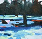Winter – 130 x 140 cm – Öl auf Leinwand