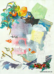 Flüchtiger Moment, 50x70, Acryl, Gesso auf Leinwandtuch, 2017