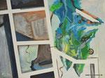 Ordnung und Verwirrung, 80x60x4, Acryl auf Leinwand, 2019