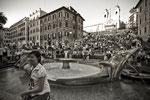 Piazza di Spagna. Barcaccia di Pietro Bernini