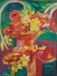 Arcs fleuris, huile, 65X50 cm