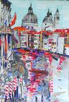 Venezia, pastel gras et encre de chine, 65X45 cm