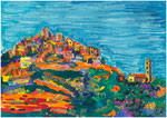 San Antonino, pastel gras et encre, 65X45 cm