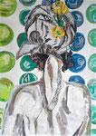 F... moi la Paix ! pastel gras et encre de chine, 65X45 cm