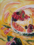 Cerise en folie, huile, 90X70 cm
