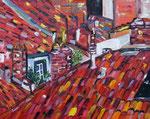 Toulouse sur les toits, huile, 90X70 cm