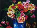 Bouquet d'été, huile, format 75X60 cm