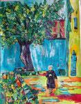 La Mama, pastel gras et encre, 65X45 cm