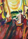 La comtesse aux pieds nus, huile, 70X50 cm