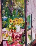 Fenêtre sur cour, huile, 90X70 cm