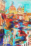 Venezia, pastel gras et encre, 65X45 cm