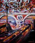 Le Pont Neuf de Toulouse, huile, 60X50 cm